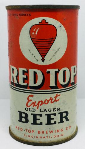 Red Top Export Beer, Red Top Brewing Co. Cincinnati, 12 ounce flattop IRTP, O/I