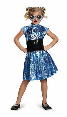 Powerpuff Girls Glasses (Powerpuff Girls Bubbles Deluxe Girls Dress Belt Glasses Hair Ties M)