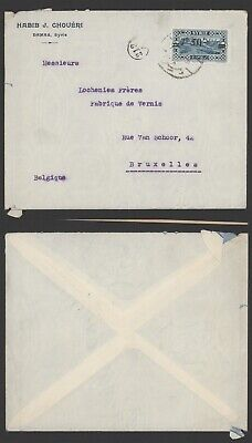 Syria 1928 Surcharge - Cover to Belgium R53