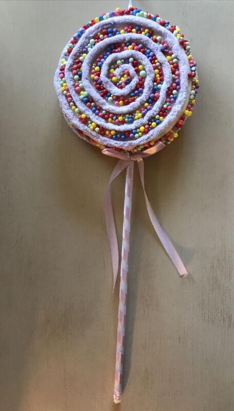 Christmas Large Purple Candyland Lollipop Pick