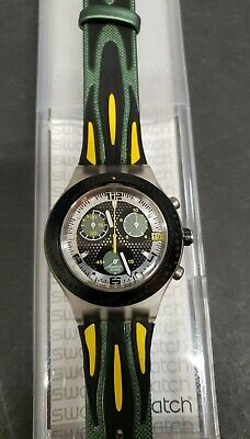 New Swatch Watch Diaphane Yellow Second Model SVCM 4004 New Battery (Yellow Swatch)