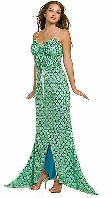PEARL OF THE SEA ADULT HALLOWEEN SEXY COSTUME,FULL LENGTH DRESS, GREEN, MSRP $95 - Full Length Halloween Costumes