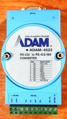 Advantech ADAM-4522 Data Aquisition Module RS-232 to RS-422/485 Converter used