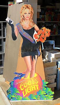 Huge Sexy Pam Pamela Anderson Halloween Scream Queen Cutout Standee ~ COORS BEER