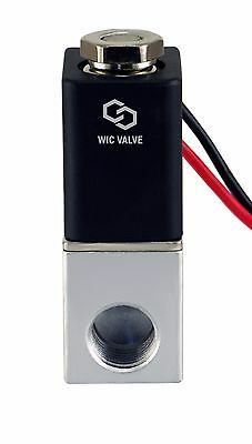 """1/4"""" Inch Normally Closed Fast Response Electric Air Water Solenoid Valve 12V DC"""