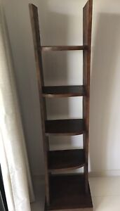 Teak display shelf