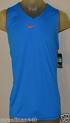 c96c7f99 NEW NIKE HYBRID SLEEVELESS BASKETBALL MENS 2X-LARGE BLUE ORANGE SHIRT  532338 406