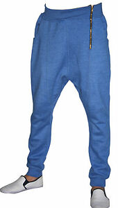 mens TRENDY skinny/slim fit drop crotch joggers/bottoms/pants size S - XL