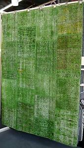 New Bayliss Harvest Green Patchwork Vintage Style Wool Rugs Melbourne CBD Melbourne City Preview