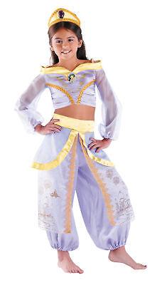 Jasmin Prestige Kinder Mädchen Kostüm Disney Prinzessin ALADDIN Kostüm