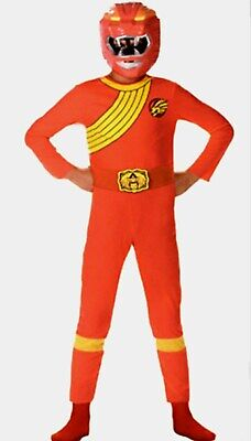 Power Rangers Wild Force Costumes (Power Rangers Wild Force Size 7-8 10 Red Lion Child Costume New)