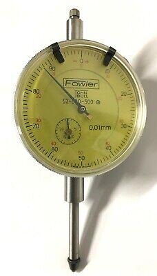 Fowler 52-520-500 John Bull Dial Indicator 0-25mm Range 0.01mm Graduation