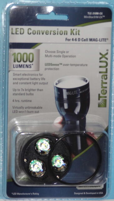 1,100 lumens led up graded for maglite