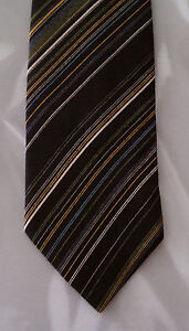 NIB Black Green Yellow Stripe OSCAR DE LA RENTA Tie! BRAND NEW! - 753