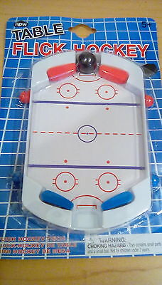 - NEW Toy Table Flick Flip Hockey, pinball style spring loaded paddles