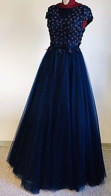 rella Ballkleid edle Robe in Mitternachtsblau Gr.34/36 *NEU* (Cinderella Ballkleid Kleid)