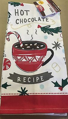 New BETTER HOMES & GARDENS LIM EDITION HOT COCOA RECIPE KITCHEN TOWEL (Best Hot Chocolate Recipe)