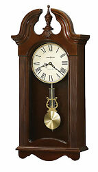 Howard Miller 625-466 (625466) Malia Single Chime Wall Clock, Cherry Bordeaux
