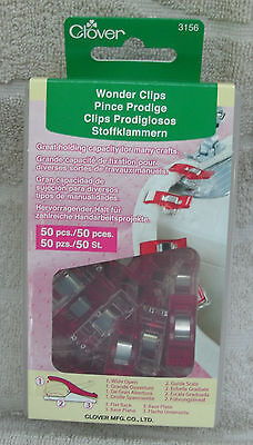 Clover Wonder Clips #3156 Red 50 ct. ~ NEW