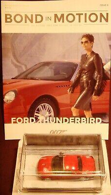 Eaglemoss Diecast 1:43 James Bond Ford Thunderbird Die Another Day #9 w/Magazine