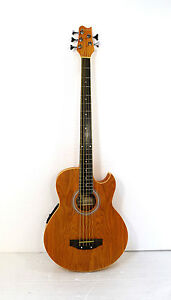 5 String Electric Cutaway Acoustic Bass  Light-Brown, W/4 Band  EQ,