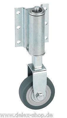 Leiterrolle Federrolle Bockrolle 50 mm gefedert für Leitern Gummi grau Rolle Rad