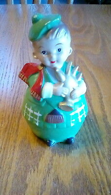 Old Chalkware  carnival circus prize bank Scottish Bagpipper