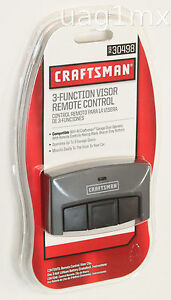 NEW  Craftsman Garage Door Opener 3-Function Visor Remote Control 30498