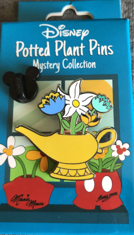 Disney Parks Aladdin Lamp Potted Plant Epcot Flower And Garden Festival LR  pin