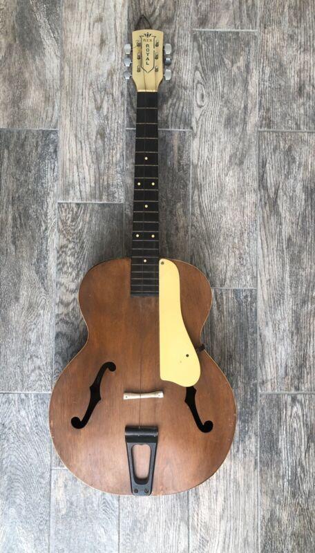Rare Vintage Rex Royal F-hole Acoustic Guitar Arch top