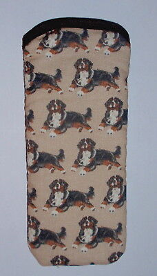 BERNESE MOUNTAIN DOGS  - GLASSES CASE - cotton- ideal small gift