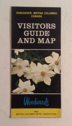 Vancouver British Columbia VTG Woodward's Visitor Guide & Map Historical Travel