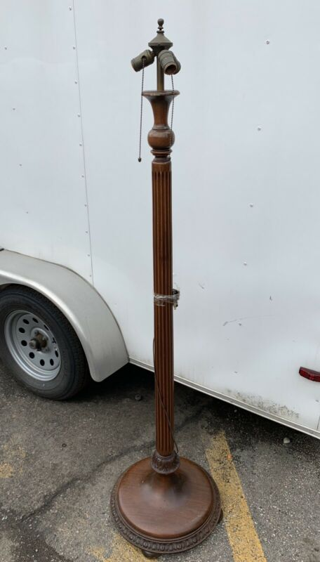 Very Rare Kittinger Buffalo NY New York Floor Lamp Tall Wood Antique