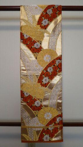 #60 Vintage Japanese Fukuro Obi, Chrysanthemum