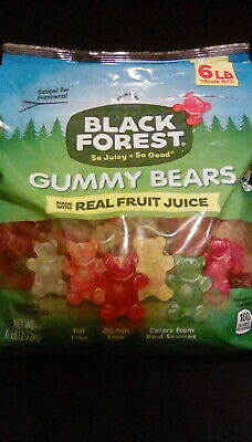 Brand New & Sealed Bag of- Black Forest Gummy Bears Candy, 6 lb Best by