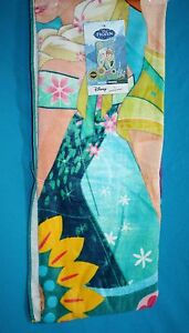 Disney-FROZEN-BEACH-TOWEL-Elsa-amp-Anna-Flowers-Cotton-New-Jumping-Beans-28x58-034