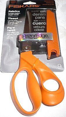 "Fiskars RazorEdge Scissors Fabrics 9"" Longer Blades, Larger Handle #8190"