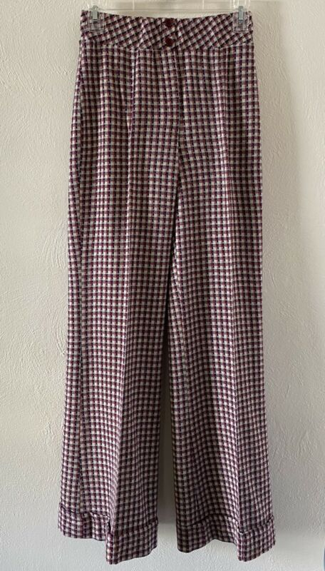 Vintage 1960's Bell Bottoms Womans Size 8 Elastic Waist