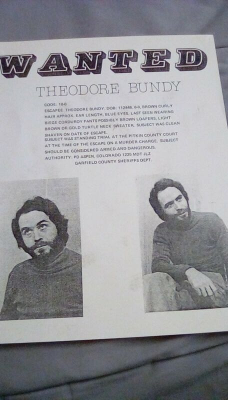 Bundy original wanted poster (very rare)