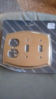 BALDWIN BRASS OUTLET PLATE- SOLID BRASS COLONIAL DESIGN STOCK #4768 ()