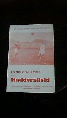 Featherstone Rovers v Huddersfield Yorks Cup 2nd Round 1969 Programme