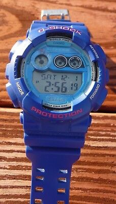 G-shock Stopwatch - Blue Casio G-Shock GD-120TS-2 World Time Alarm Stopwatch Timer Calendar 3427