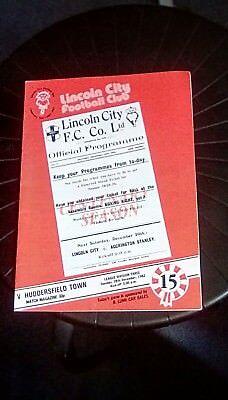 Lincoln City v Huddersfield Town 1982 Programme