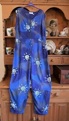 VINTAGE JUMPSUIT PLAYSUIT ROMPER 80s 90s AWESOME! UK 12 VGC