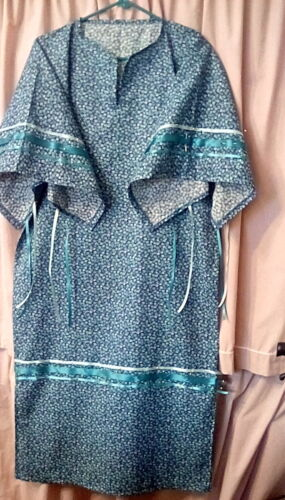 NATIVE AMERICAN RIBBON DRESS ladies small