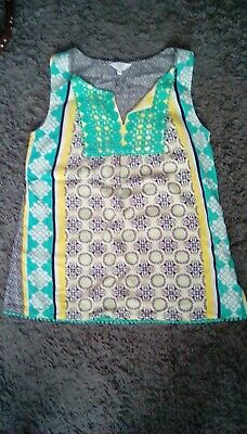 Womens Crown & Ivy Blue and Green tanktop size Petite PP