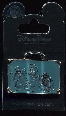 Haunted Mansion Hitchhiking Ghosts Suitcase Stained Glass Disney Pin