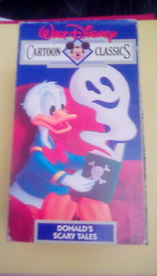 Walt Disney Cartoon Classics - Donald's Scary Tales VHS vintage Halloween horror - Halloween Cartoons Scary