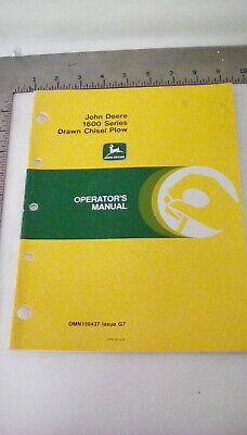 John Deere 1600 Series Drawn Chisel Plow Operators Manual Omn159437 Issue G7