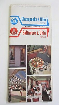 Vintage 1963 Chesapeake and Ohio Baltimore and Ohio System Timetable